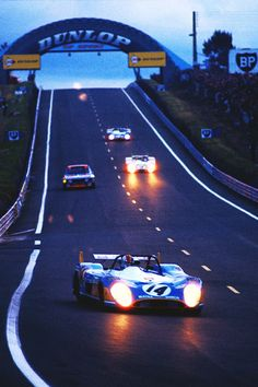 Late night driven at Le Mans, François Cevert ni thé #14 Matra 670B. Not sure of the exact year but it is the early 70's.