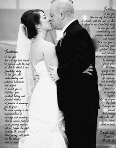 Wedding Vows Photo Print 11 x 14  Wedding Vows by SettingUpHouse, $38.00