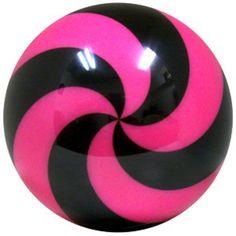 bowling ball  | bowlingball.com Spiral Pink/Black Viz-A-Ball Bowling Balls