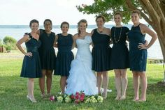 Mindee and her gals! Makeup by Susanne and hair by Mandy