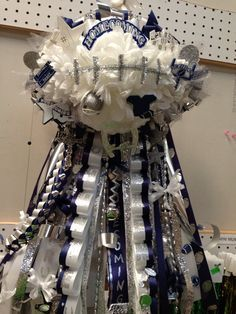 Custom Football Homecoming Mum Garter by PCBoutique on Etsy, $115.00