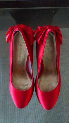 Chaussures de mariée rouge / escarpins à talon
