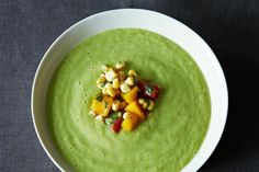 Chilled Cucumber and Avocado Soup with Mango Salsa | Crispy, Crunchy Cucumber Recipes