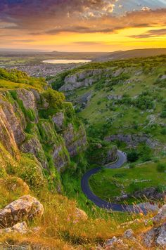 Cheddar Gorge sunset (Somerset, England) by Gerard Tohill
