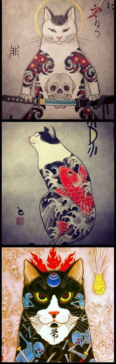 Cattoos: Horitomo Tattoo Art! - Flotsam and Catsam