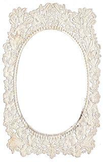 Victorian Lace Frame ~ Zibi Vintage Scrap