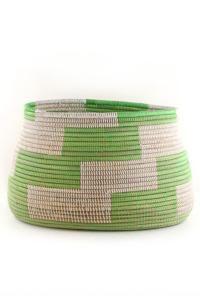 LittleChoux.com - Green & White Woven Basket