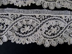 Antique Handmade Brussels Lace Trim