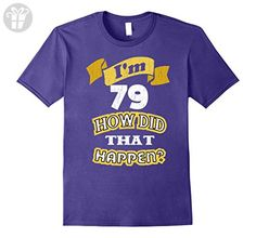 Mens Gift for 79 Year Old Women - Gift for 79th Birthday T-Shirt 3XL Purple - Birthday shirts (*Amazon Partner-Link)