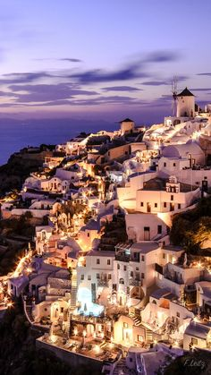 Oia by night, Santorini