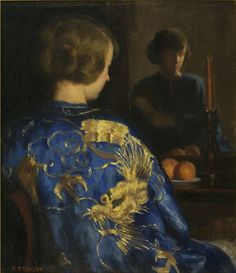 Marguerite Stuber Pearson (1898-1978) : The Blue Kimono, n. d.