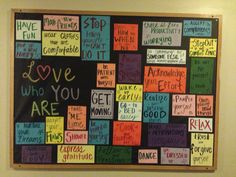RA bulletin board- Love yourself. IUPUI