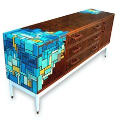 Retro Furniture, Recycled Furniture, Unique Furniture, Home Decor Furniture, Furniture Decor, Painted Furniture, Shabby Chic Decor, Vintage Decor, Unwanted Furniture