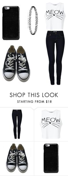 """""""Untitled #460"""" by fairytalestorybook ❤ liked on Polyvore featuring ONLY, Miss Selfridge, Converse and Maison Margiela"""