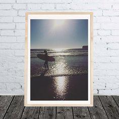 Foto Print Surfer Girl  Foto Druck Poster von SundayVibesStudio
