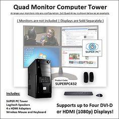 SUPER PC   Quad Monitor Computer   3.3Ghz Intel Core i7 Six-Core   32GB DDR4   512GB SSD   3GB GDDR5 R9 280X [384-bit] Graphics SUPER PC http://www.amazon.com/dp/B011HW8EVG/ref=cm_sw_r_pi_dp_a2n9vb0NSD4W3