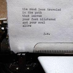 the road less traveled poem by ©judyelisa