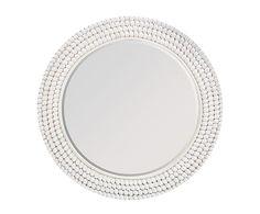 Espejo de pared, blanco - Ø85 cm
