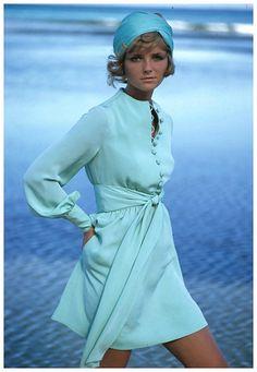 Cheryl Tiegs models a dress by Stan Herman, photo by Gianni Penati   by dovima2010
