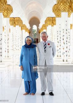 Camilla, Duchess of Cornwall and Prince Charles, Prince of Wales visit the Grand Mosque on the first day of a Royal tour of the United Arab Emirates on November 6, 2016 in in Abu Dhabi, United Arab Emirates. Prince Charles, Prince of Wales and Camilla, Duchess of Cornwall are on a Royal tour of the Middle East starting with Oman, then the UAE and finally Bahrain.  (Photo by Chris Jackson/Getty Images)