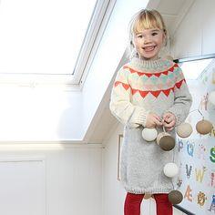 Vestido de menina em tricot