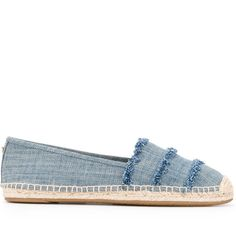 Michael Michael Kors denim 'Tibby' espadrilles (1.449.990 IDR) ❤ liked on Polyvore featuring shoes, sandals, blue, blue sandals, michael michael kors sandals, michael michael kors shoes, blue denim sandals and espadrille shoes
