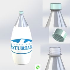 Plastic milk bottle. Brand: Central Lechera Asturiana. All rights from the logo reserved to the brand. #LLOTJAMIT1 #PLASTIC