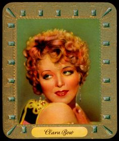 German Cigarette Card - Clara Bow 1935