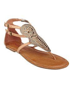 51f5b6343 This Brown   Silver Stud Summar Gladiator Sandal by Pink   Pepper is  perfect!
