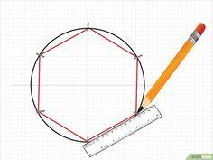 How to Draw a Hexagon Image titled Draw a Hexagon Step 7 Patchwork Hexagonal, Motif Hexagonal, Hexagon Quilt Pattern, Quilt Patterns, Hexagon Quilting, Draw A Hexagon, Hexagon Shape, English Paper Piecing, Quilt Blocks