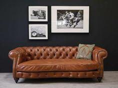 Chesterfield sofa leder  Alec's Chesterfield Churchill High Back Wing Chair UK Manufactured ...