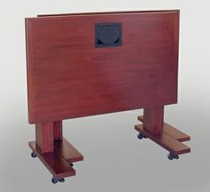 NTR 30x48 Nesting Conference Tables in Classic Mahogany - Nested. These tables are on self-leveling casters and can be linked together to make as large a conference table as required. #Mahogany #Table #Custom #Infocomm2012