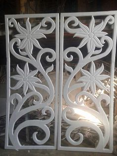 Thermocole design Thermocol Craft, Styrofoam Art, Ganpati Decoration At Home, Jaali Design, 3d Wall Painting, Cnc Cutting Design, Carved Wood Wall Art, Pooja Room Design, Wood Carving Designs