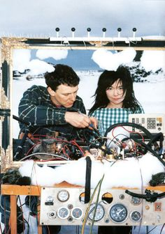 "Two inspirations of mine. Björk and Michel. ""If an idea is any good it's on the verge of being stupid."" -Michel Gondry"