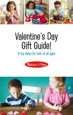 "Valentine's day gift guide - 8 toy ideas for kids of all ages! Here are some sweet Valentine's Day gift ideas for the children in your life, whether they are babies learning how to explore their world or curious kids using their imaginations. Let this Valentine's Day Gift Guide help you answer the question: ""What special gift should I get my kids for Valentine's day?"" #ValentinesGifts *Love this unique list of ideas!"