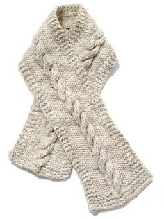 bulky crocheted cable scarves | You start by casting on 22 stitches. I used a size five bulky yarn ...