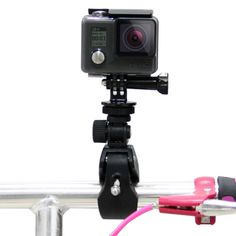 [$2.67] PULUZ Motorcycle Bicycle Handlebar Holder with Tripod Mount & Screw for GoPro HERO4 Session /4 /3+ /3 /2 /1(Black)