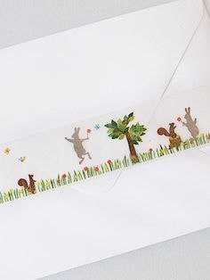 Rabbit and squirrel washi tape