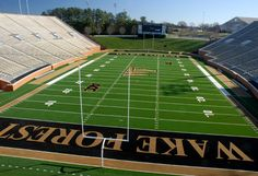 One of the best stadiums to play NCHSAA High School Football Championship games - BB&T Field at Groves Stadium