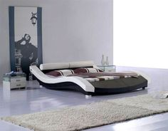 Modern Stylish Beds contemporary king size bed frames and headboards | black