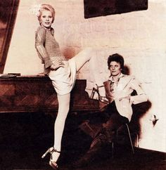 David Bowie and his ex-wife Angie 70s.