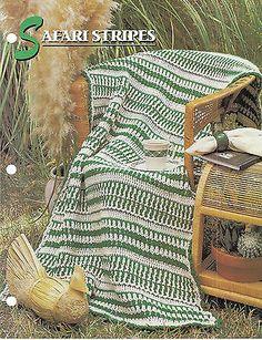 Safari Stripes Afghan Crochet Pattern Annies Attic Crochet & Quilt Club