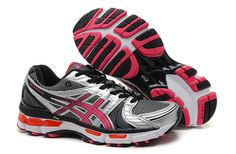 Men Asics GEL-Kayano 18 Charcoal-Ash Red
