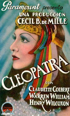 "Claudette Colbert in ""Cleopatra"" (1934), Italian Poster"