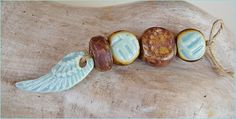 "Conjunto de ceramica "" Turquesa-marron "" de MAJOYOAL por DaWanda.com"