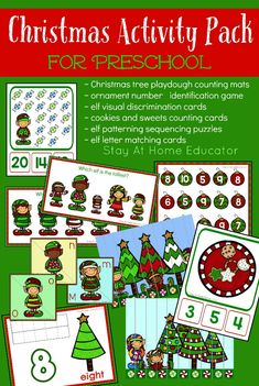 Christmas Activity Pack for Preschool - Stay At Home Educator