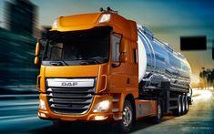 Download wallpapers 4k, DAF CF, road, 2017 truck, tanker, new CF, trucks, DAF