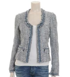 Find the Maison Scotch Chanel jasje / blazer. Nieuwsgierig naar de laatste nieuwe trends …: at The RealReal's Radical Vision. Chanel Tweed Jacket, Chanel Style Jacket, Boucle Jacket, Mode Outfits, Casual Outfits, Fashion Outfits, Womens Fashion, Channel Jacket, Mode Chanel
