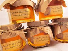 Rustic Wedding honey favors