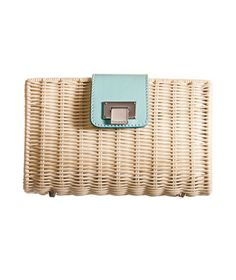 Goorgeous Summer Clutch With a Touch of Tiffanys !  Tiffany & Co. Clutch With Blue Leather